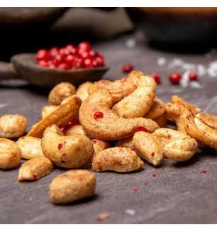 Mr Filberts Peruvian Pink Peppercorn Cashews & Peanuts