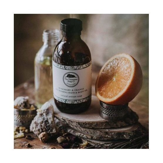 Rosemary & orange nourishing bath & body oil