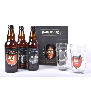 Dartmoor Brewery 3 Bottle Presentation Pack & 2 Glasses